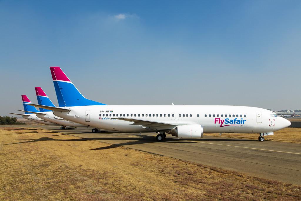 flysafair's fleet at or tambo international airport